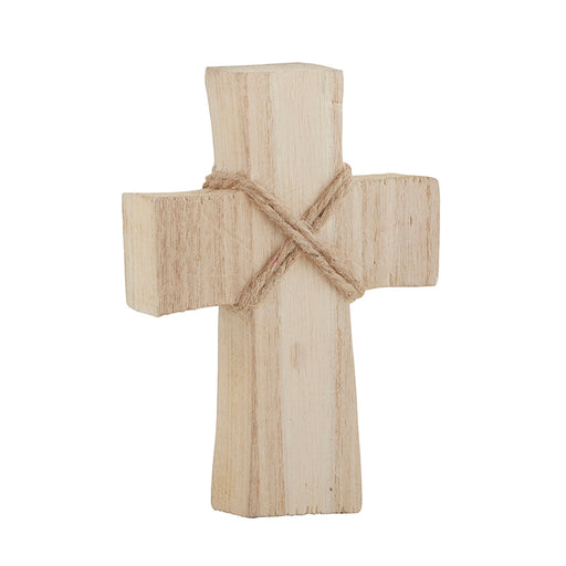 Small Natural Wood Standing Cross