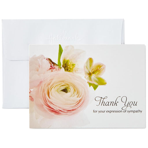 Flower Bouquet Funeral Thank You Notes