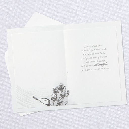 Blessings of Faith and Caring Sympathy Card From Us