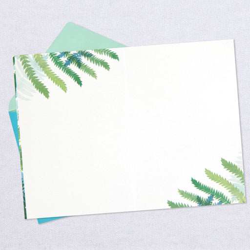 Fern Leaves Blank Thinking of You Card