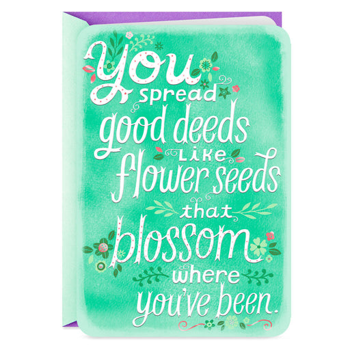 Flowers Grateful for You Thank You Card