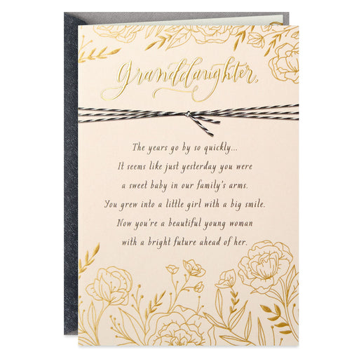 You Are Loved Religious Graduation Card for Granddaughter