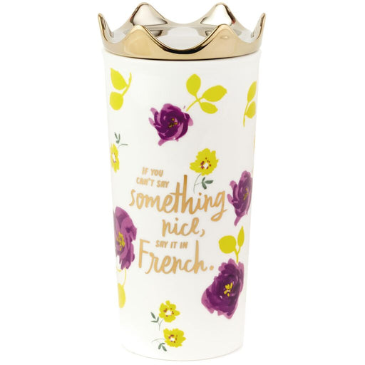 Say It in French Ceramic Travel Mug