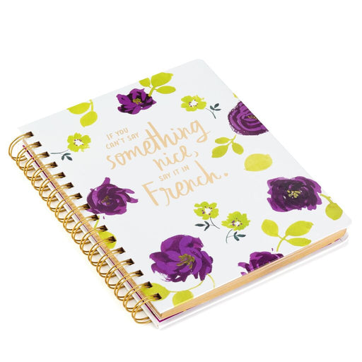 Say Something in French Spiral Notebook