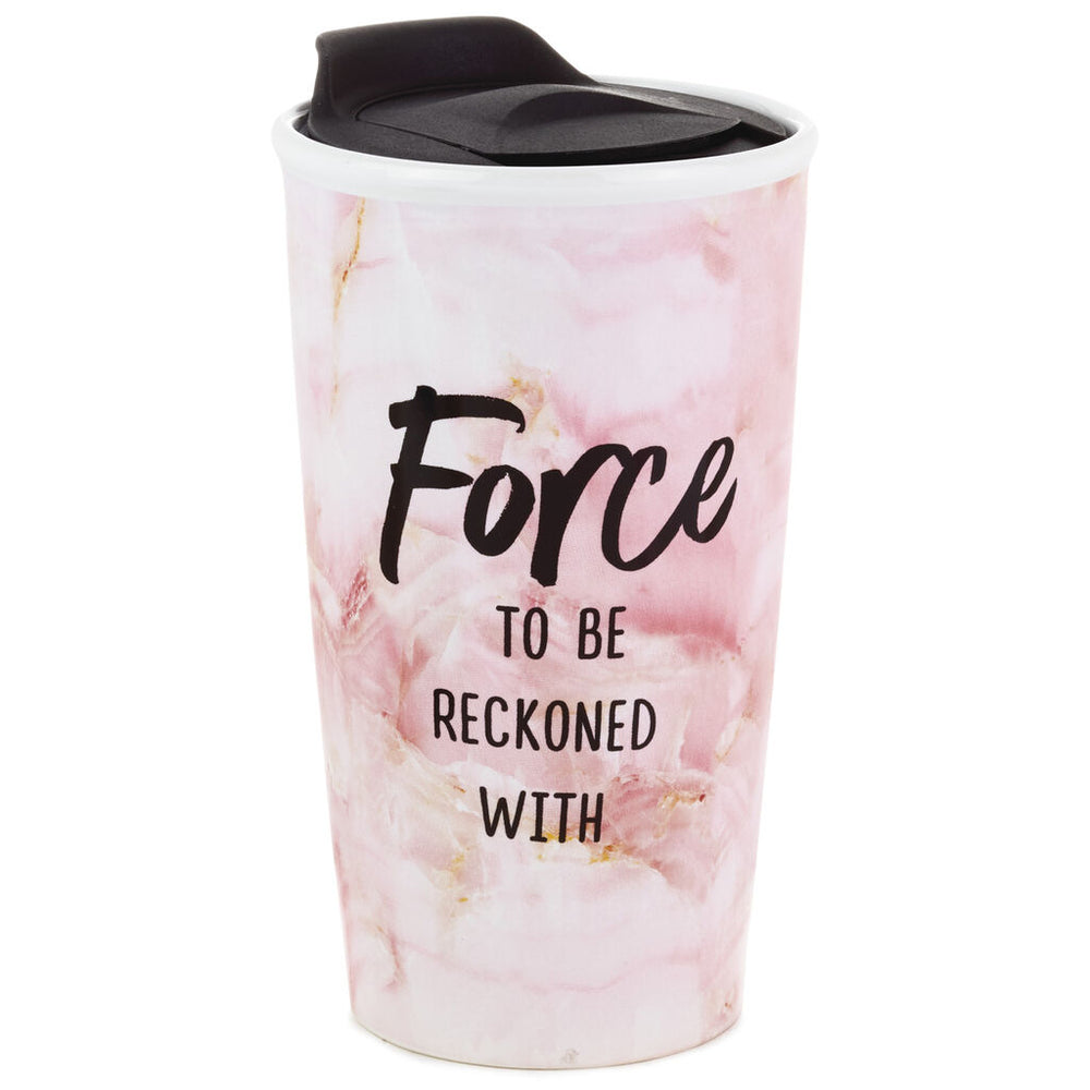 Force to Be Reckoned With Travel Mug