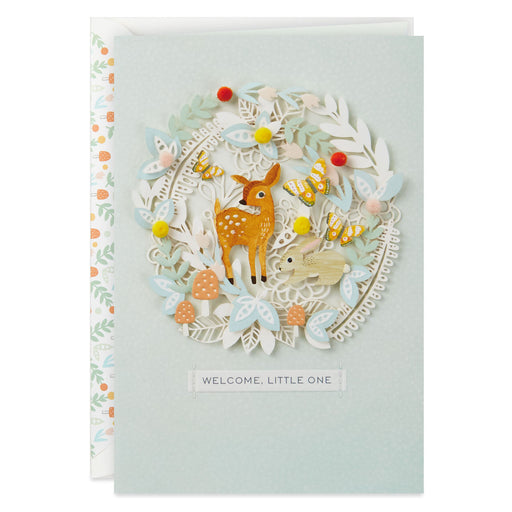 Forest Animals New Baby Card