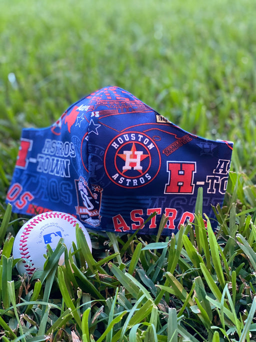 Houston Astros 50th Anniversary Face Mask Made in USA