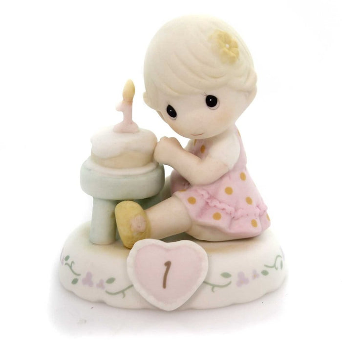 Precious Moments Age 1 Girl Figurine - Blonde