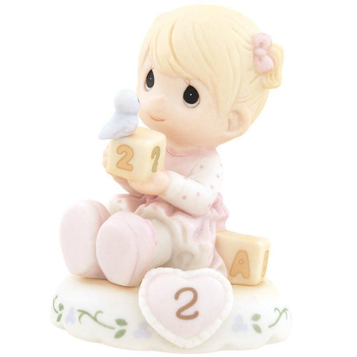 Precious Moments Age 2 Girl Figurine - Blonde