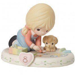 Precious Moments Age 8 Girl Figurine - Blonde