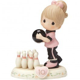 Brunette Girl Figurine 154034B Age 7 Precious Moments Growing In Grace