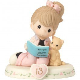 Precious Moments Age 13 Girl Figurine - Brunette