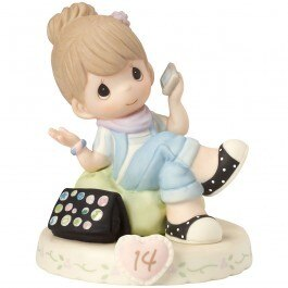 Precious Moments Age 14 Girl Figurine - Brunette
