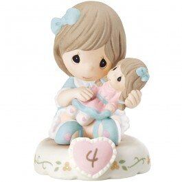 Precious Moments Age 4 Girl Figurine - Brunette