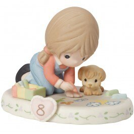 Precious Moments Age 8 Girl Figurine - Brunette
