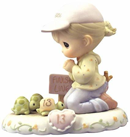 Precious Moments Age 13 Girl Figurine - Blonde Retired