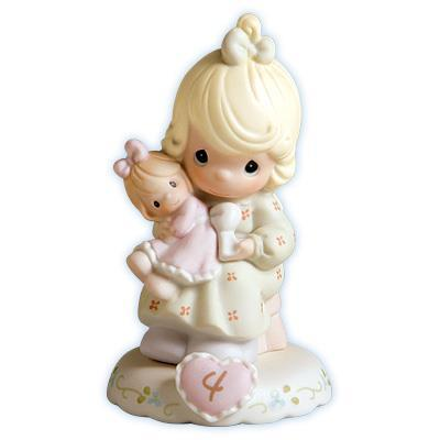 Precious Moments Age 4 Girl Figurine - Blonde Retired