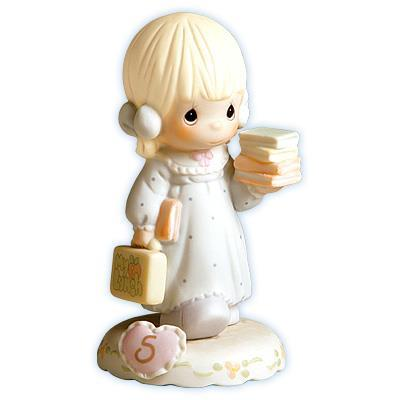 Precious Moments Age 5 Girl Figurine - Blonde Retired