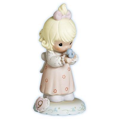 Precious Moments Age 9 Girl Figurine - Blonde Retired