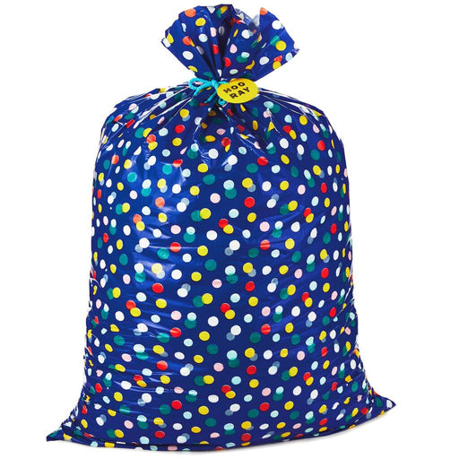 Giant Hooray Plastic Gift Bag With Tag and Tie