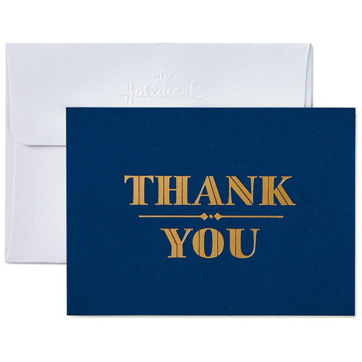 Gold on Navy Thank You Notes
