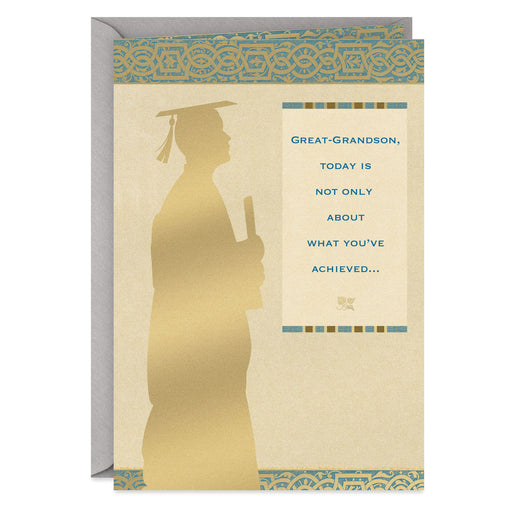 You've Made Our Family Proud Graduation Card for Great-Grandson