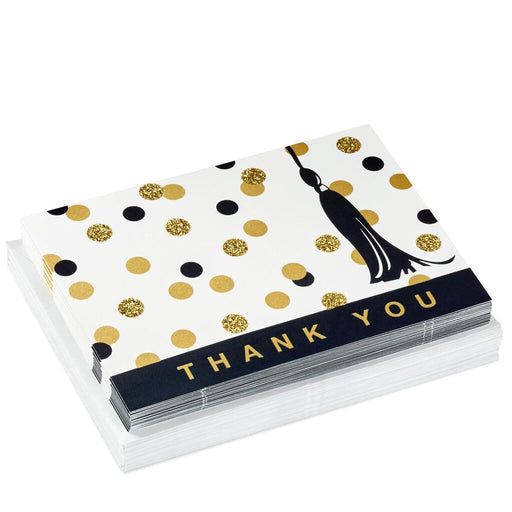 Graduation Dot and Tassel Thank You Notes