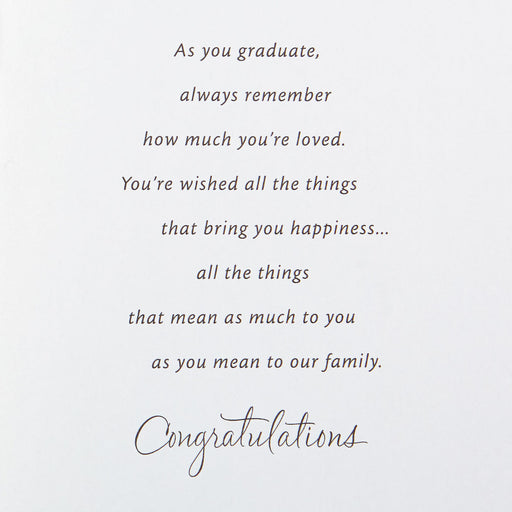 Wishing You All the Happiness Graduation Card for Grandson