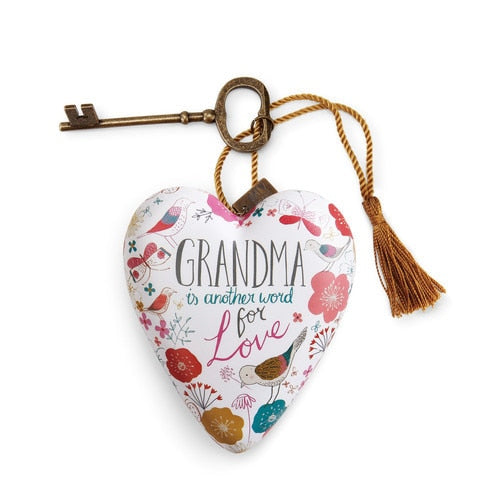 Grandma is Love Art Heart