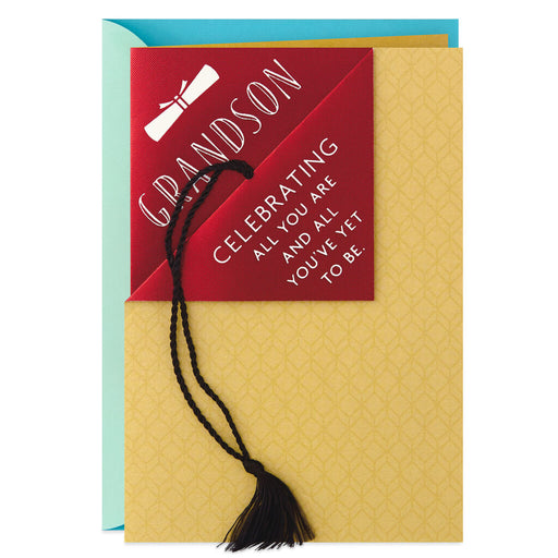 Always With You, Grandson Graduation Card With Tassel