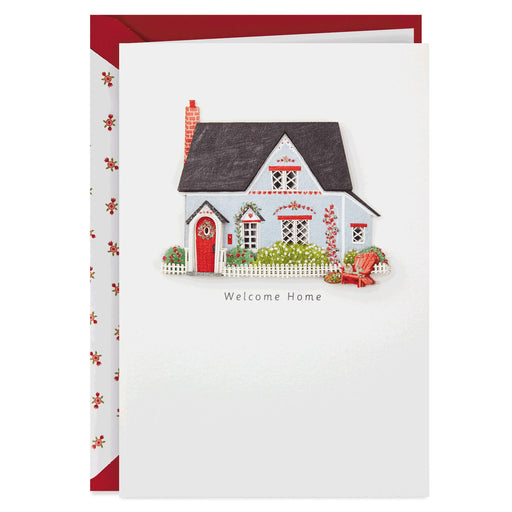 House With Picket Fence New Home Congratulations Card