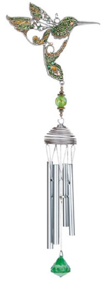 Green Pewterworks™ Hummingbird Chime