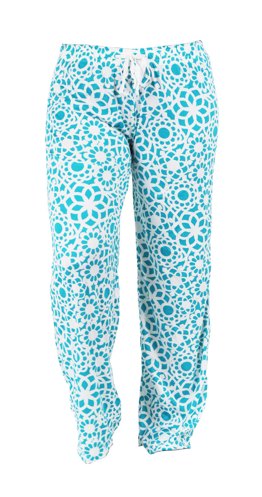 Blue Lace Pattern Lounge Pants