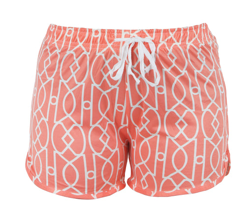 Coral Lattice Leisure Shorts