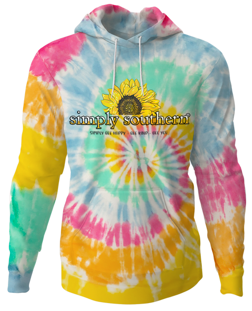 Sunflower Hoodie Pullover in Classic Tie Dye