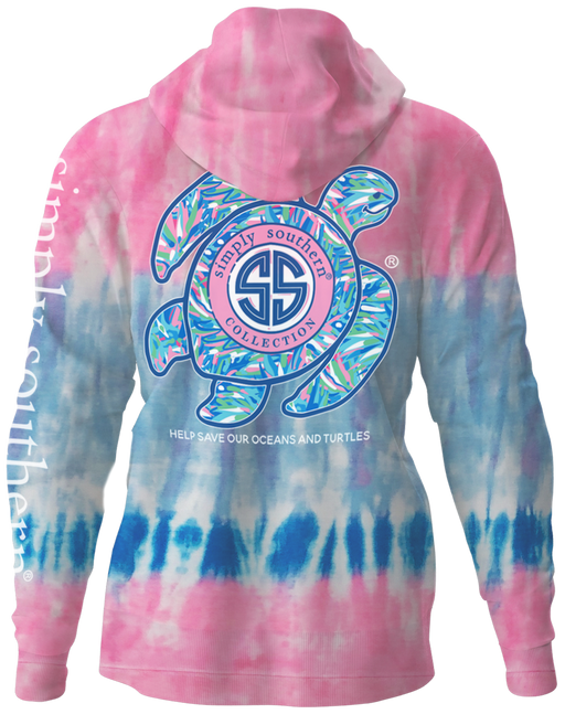 Sea Turtle Hoodie Pullover in Candy Tie Dye