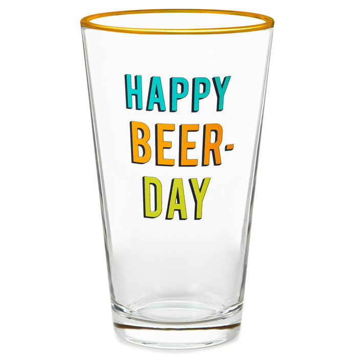Happy Beer-Day Pint Glass