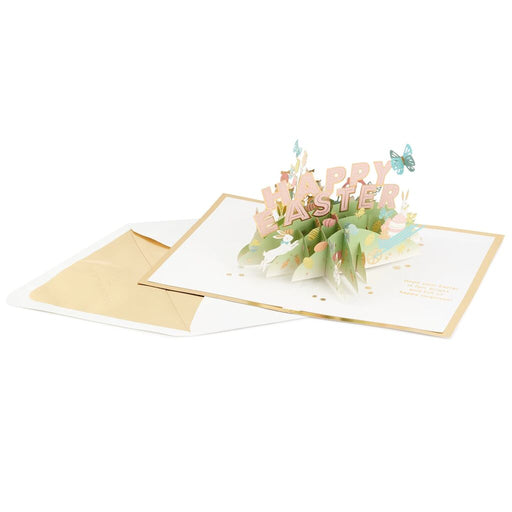 Happy Easter Spring Icons 3D Pop-Up Easter Card