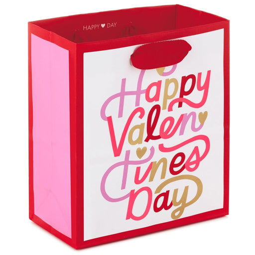 "6.5"" Happy Valentine's Day Script Gift Bag"