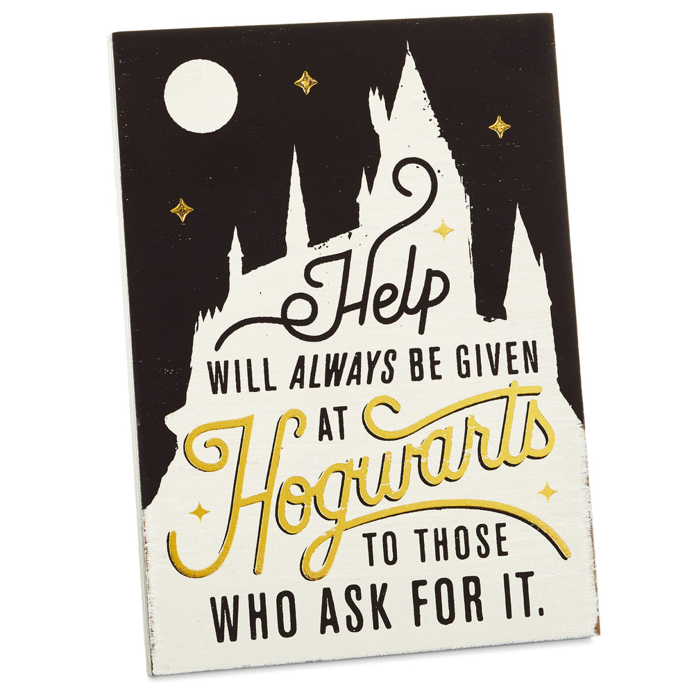 Harry Potter™ Help At Hogwarts™ Wood Quote Sign