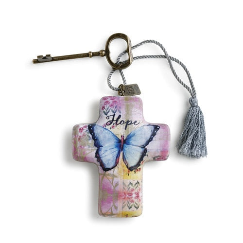 Hope Butterfly Artful Cross