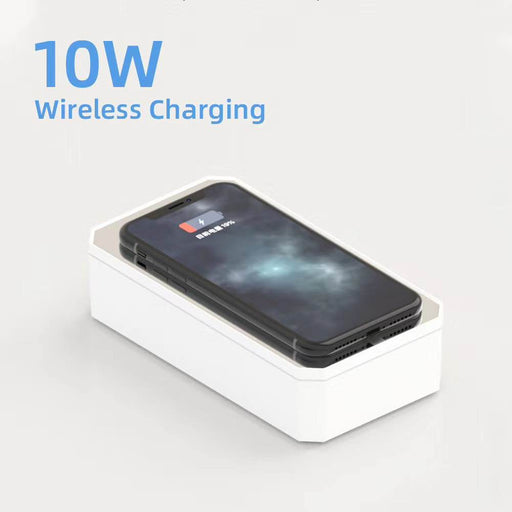 UV Sterilizer Box and Wireless Charger with Mirror