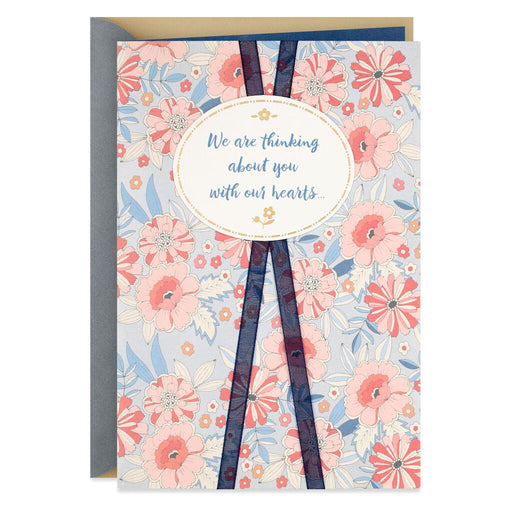 In Our Hearts Floral Religious Sympathy Card