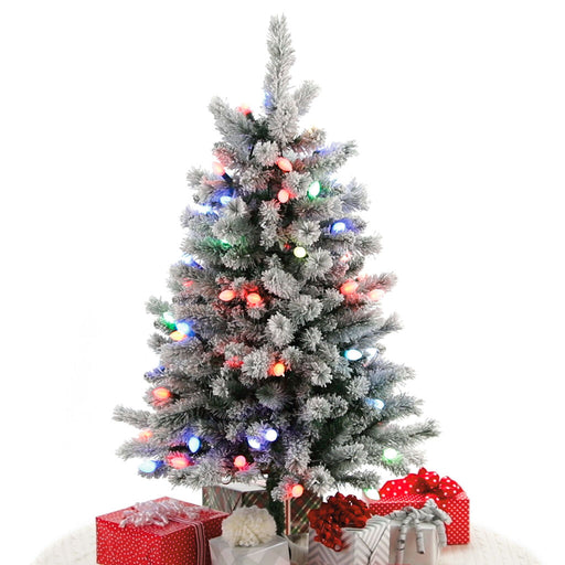 4' Sound-A-Light Musical Flocked Christmas Tree With Lights