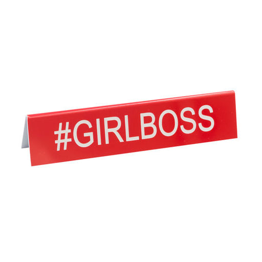 #Girl Boss Desk Sign