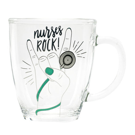 Nurses Rock Glass Mug