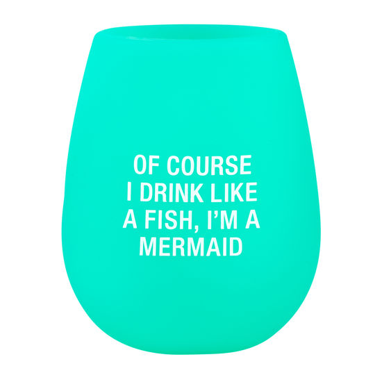 Mermaid Silicone Stemless Wine Glass