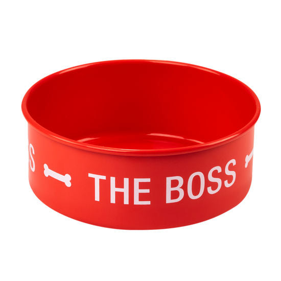 The Boss Dog Bowl Set