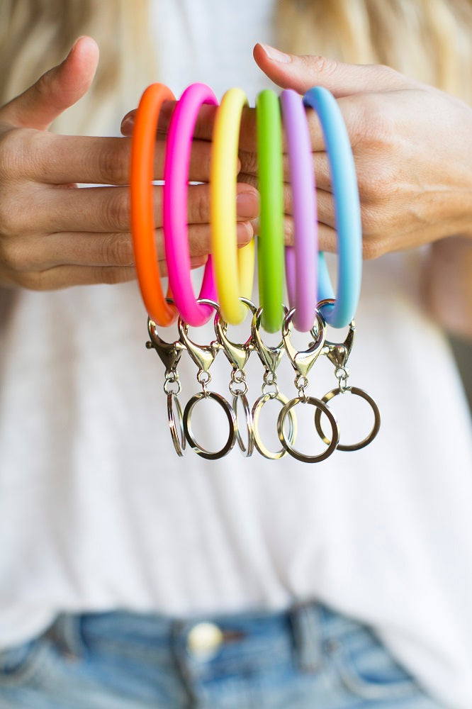 Silicon Bangle Keyring
