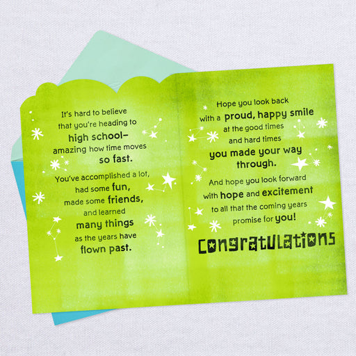 Good Times and Excitement Junior High Graduation Card